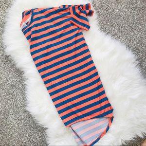 NWOT Orange & Blue Striped Top!